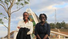Ruby Mutheke and Diana Nelima are all smiles, visits to Our Lady of Protection, Museve Shrine